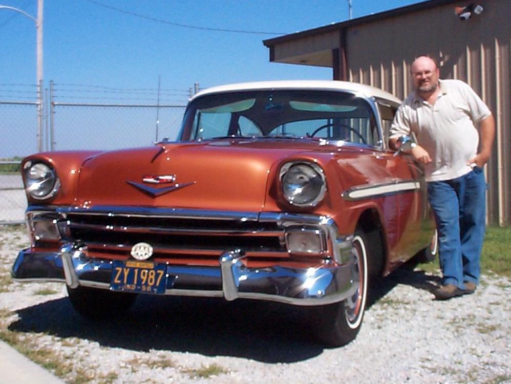 1956 Chevy 56 Bel Air REAR Center  Bumper USA Plated