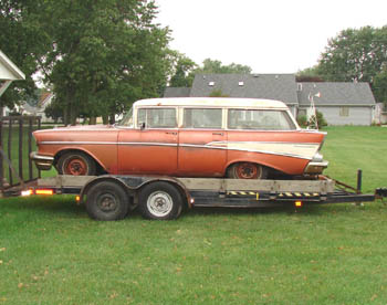 """Link to Jim's 1957 """"barn find"""" two-ten wagon page"""