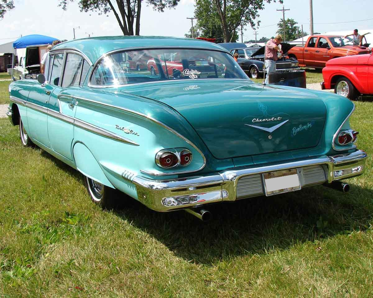All Chevy 58 chevy bel air : 58 Belair Lt Rear.jpg (1200×958) | Chevrolet Bel Air | Pinterest ...